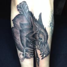 Peter bienge higher ground tattoo black and grey for Higher ground tattoo