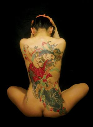He has a good reputation in tattooing Hannya-masks and