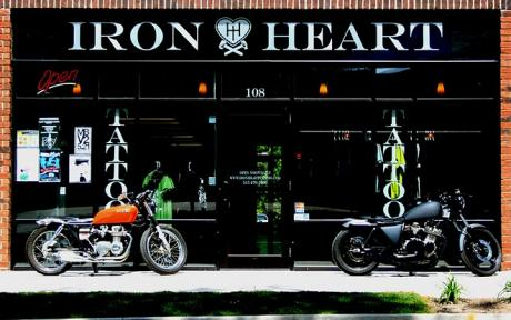 Iron heart piercing for Tattoo removal des moines