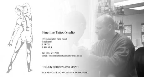 Fine line tattoo leeds piercing for Tattoo studio middleton