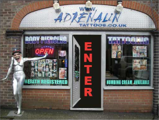 Adrenalin Tattoos Tel. 01582 515003 54 Cheapside, Luton, LU1 2HN Map