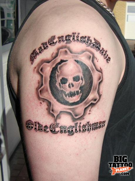 Taz tarren malham computer games tattoo big tattoo for Gears of war logo tattoo