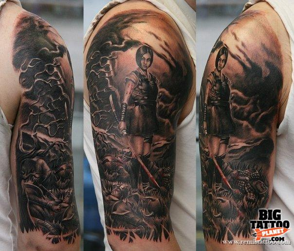 Japanese Warrior Sleeve Tattoo Designs Warrior Tattoo Sleeve