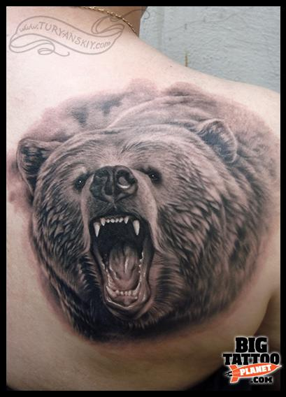 Bear tattoo - Black and Grey Tattoo | Big Tattoo Planet