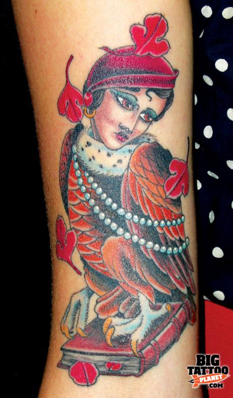 Mo Coppoletta at The Family Business Tattoo Parlour, London